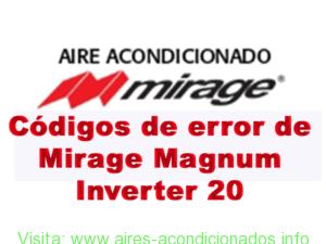 Códigos de error de Mirage Magnum Inverter 20